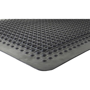 Genuine Joe Flex Step Rubber Anti-Fatigue Mats - Warehouse - 60