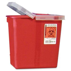 Covidien Kendall Sharps Containers with Hinged Lid - 2 gal Capacity - 10