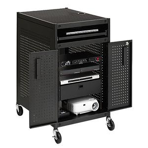 Bretford Audio Equipment Cabinet TC15FF-BK - Large