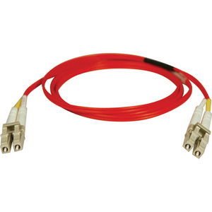 Duplex Multimode 62.5/125 Fiber Patch Cable (LC/LC) - Red, 5M (16-ft.)