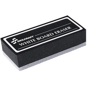 SKILCRAFT White Board Eraser - Washable - Black - 1Each