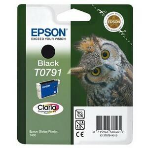 EPSON Claria T0791 Original Ink Cartridge - Black - Inkjet - 1 Pack