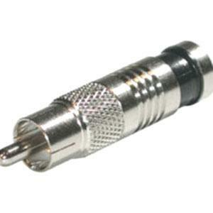 Cable Connector - RCA - Male - Chrome