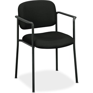 HON Scatter Stacking Guest Chair - Black Fabric Seat - Black Frame - Black - 1 Each