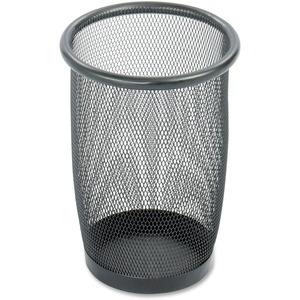 Safco Round Mesh Wastebaskets - 3 quart Capacity - Round - 7.50
