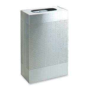 Rubbermaid Commercial Metallic Rectangle Waste Cans - 13 gal Capacity - Rectangular - 30