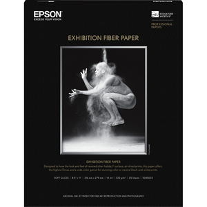 Fiber Paper - 8.5 x 11 inch - Epson Stylus Pro 11880 (ColorBurst)/3800 (Professi