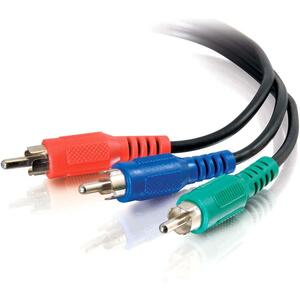 Cables To Go 3 ft Value Series Component Video Cable(40956) - 3 x RCA Male - 3 x RCA Male - Black