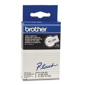 BROTHER - SUPPLIES 9MM BLACK ON WHITE LAMINATED TAPES