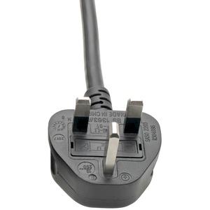 Tripp Lite Standard UK Power Cord, 13A IEC-320-C19 to BS-1363 UK Plug 8ft