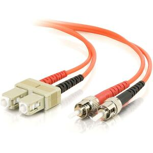 C2G-1m SC-ST 50/125 OM2 Duplex Multimode PVC Fiber Optic Cable | Orange