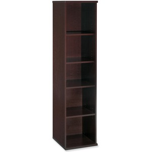Bush Business Furniture Series C 18W 5 Shelf Bookcase in Mocha Cherry - 17.8