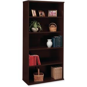 Bush Business Furniture Series C 36W 5 Shelf Bookcase in Mocha Cherry - 35.6