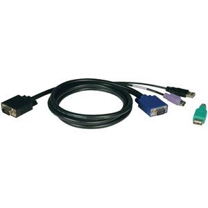 TRIPP LITE KVM USB/PS2 CABL F/ B040&B042 KVMS INCLUDE USB AF TO PS/2 M ADAPT