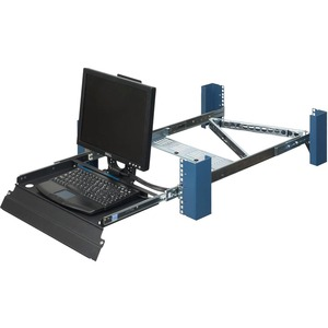 2U 4POST SLIDING RACKMOUNT MONITOR AND KEYBOARD TRAY. SHALLOW TO WORK IN SHORTER