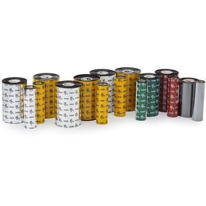 Zebra Consumables 3200 Wax/Resin Ribbon 3.3 X 244'' 0.5 Core One Carton - 12 Rolls