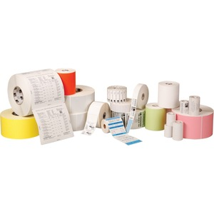 ZEBRA, CONSUMABLES, POLYPRO 4000T POLYESTER LABEL, THERMAL TRANSFER, 0.9375 X 0.9375, 1 CORE, 5