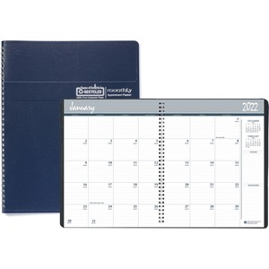 House of Doolittle 14-month Classic Wirebound Monthly Planner - Yes - Monthly - December 2019 till January 2021 - 1 Month Double Page Layout - 8 1/2
