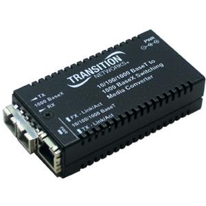 Transition Networks Transceiver/Media Converter M/GE-PSW-LX-01-NA - Large