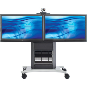 Avteq RPS-1000L Dual Display Stand - Up to 65inScreen Support - 350 lb Load Capacity - 1