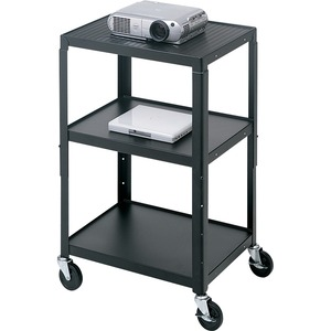 ADJ AV CART 26-42IN TALL W/ SLIDE OUT NB SHELF