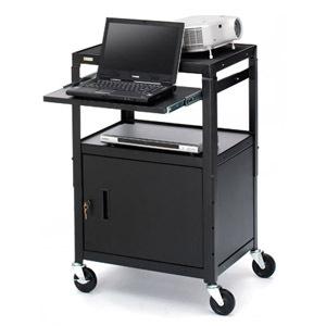 Bretford CA2642NS Presentation Cart with Cabinet - Black