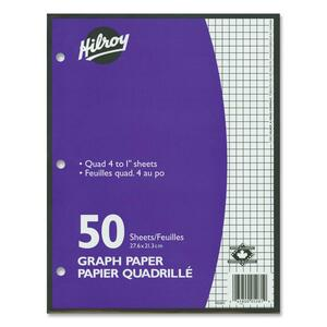 hilroy 4 1 two sided quad ruled filler paper officestuff