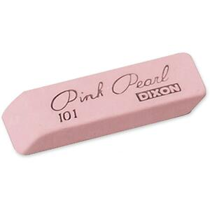 Dixon Large Pink Pearl Eraser (Price Per Box) 77003