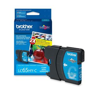 BROTHER - SUPPLIES LC65HYCS HIGH YIELD CYAN INK CARTRIDGE 750 PAGES