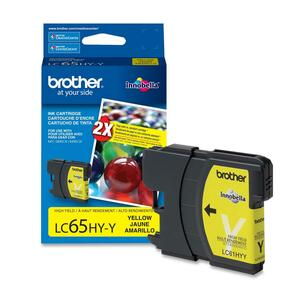 BROTHER - SUPPLIES LC65HYYS HIGH YIELD YELLOW INK CARTRIDGE 750 PAGES