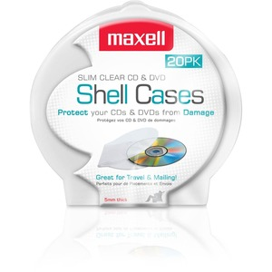 Maxell CD-356 Slim CD/DVD Jewel Case - Jewel Case - Clamshell - Clear - 1 CD/DVD