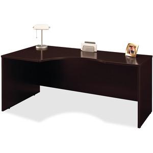 Bush Business Furniture Series C 72W Left Hand Corner Module in Mocha Cherry - 71