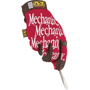 Mechanix Wear Gloves - 9 Size Number - Medium Size - Leather - Red - Safety Cuff - 2 / Pair
