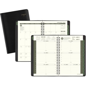 At-A-Glance 100% Recycled Weekly/Monthly Appointment Book - Yes - Weekly - January 2020 till December 2020 - 8:00 AM to 5:00 PM - 1 Week Double Page Layout - 4 7/8