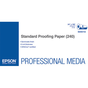 Epson Proofing Paper - 24inx 100 ft - 240 g/m² Grammage - Semi Matte - 1 Roll