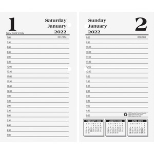 House of Doolittle No.17-Base Economy Calendar Refills - Yes - Daily - 1 Year - January 2020 till December 2020 - 7:00 AM to 5:00 PM - 1 Day Single Page Layout 1 Day Double Page Layout - 3 1/2