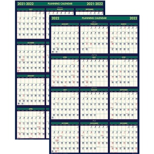 House of Doolittle Reversible Planner - Yes - 1 Year - January 2019 till December 2019 - 24 x 37 - Laminated
