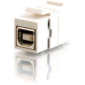 C2G Snap-In USB B/B Female Keystone Insert Module | White