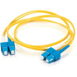 30M SC-SC 9/125 OS1 DUPLEX SINGLE-MODE PVC FIBER OPTIC CABLE - YELLOW