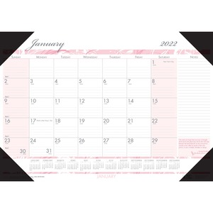 House of Doolittle Breast Cancer Awareness Compact Desk Pad - Julian Dates - Monthly - 1 Year - January 2022 till December 2022 - 1 Month Single Page Layout - 18 1/2