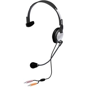 NC-181 On-Ear Monaural Computer Headset with noise-canceling microphone and dual