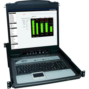 Tripp Lite NetDirector Console RM LCD KVM Switch with 8 Cables | Steel Housing