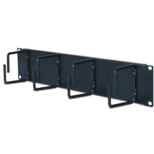 APC 2U Horizontal Cable Organizer - Black - 2U Rack Height