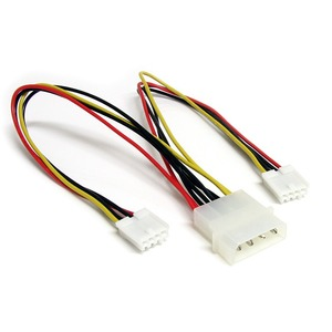 STARTECH POWER Y SPLITTER CABLE LP4 TO 2X SP4