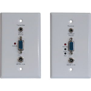 Tripp LITE-WP VGA RS232 Over CAT5/CAT6 Extender Kit Wallplate Transmitter & Receiver Up to 1000-FT