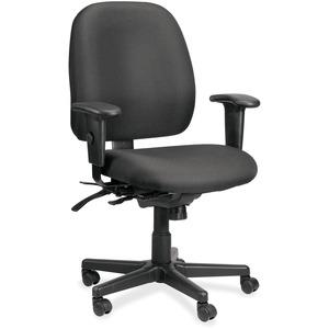Eurotech 49802A Multifunction Task Chair - Black Foam Seat - Foam Back - 5-star Base - 1 Each