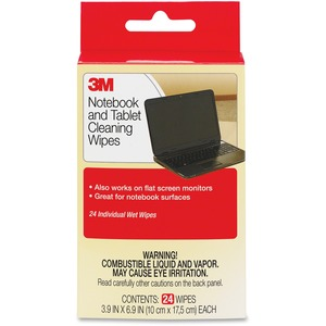 3M Notebook Screen Cleaning Wipes - 24 / Pack