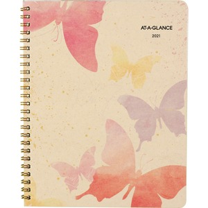 At-A-Glance Watercolors Monthly Planner - Yes - Monthly - January 2020 till January 2021 - 1 Month Double Page Layout - 6 7/8