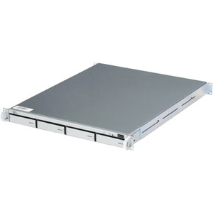 Sans Digital EliteNAS EN104L+ 1U Rackmounted 4 Bay NAS Server SATA Hot Swap RAID 0/1/1+0/5/6 GBLAN