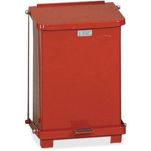 Rubbermaid Commercial Defenders Medical Waste Step Can - 7 gal Capacity - Square - 17